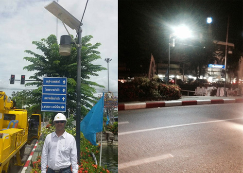 Hitechled U4 30w all in one solar street light for Thailand