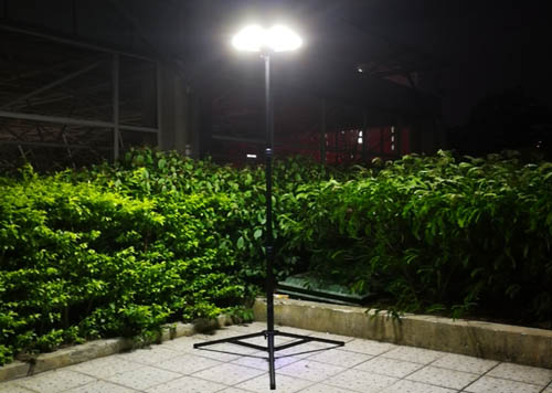 portable UFO solar LED light